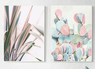تابلوه زجاج - 2 فريم ابيض - 100×70