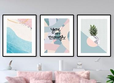 تابلوه زجاج - اناناس - 3 قطع - 120×60