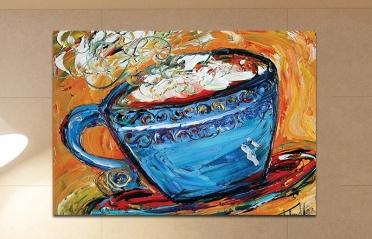 فن رسم فنجان قهوة