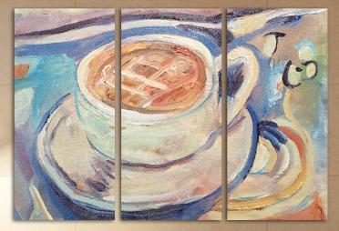 تابلوه مودرن - قهوه -3 قطع - 100*70