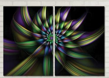 تابلوه مودرن - رسم جرافيك - 2 قطعة - 100*70