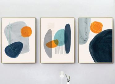 تابلوه زجاج - فن رسم - 3 قطع - 120×60