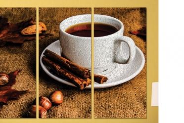 تابلوه مودرن - فنجان قهوه -3 قطع - 100*70
