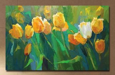 تابلوه مودرن- زهور التيوليب - 80*50