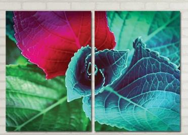 تابلوه مودرن - ورق شجر - 2 قطعة - 100*70