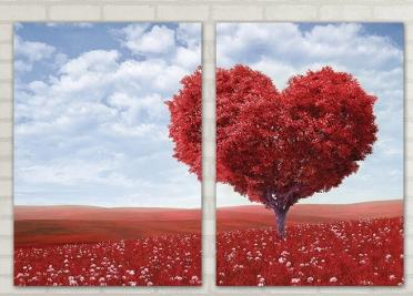 تابلوه مودرن - قلب- 2 قطعة - 100*70
