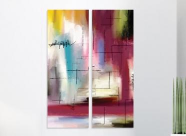 تابلوه مودرن- 2 قطعة - فن د - 70*100