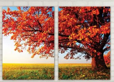 تابلوه مودرن - شجرة - 2 قطعة - 100*70