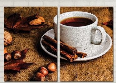 تابلوه مودرن - فنجان قهوه - 2 قطعة - 100*70