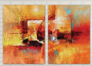 تابلوه مودرن - فن رسم- 2 قطعة - 100*70