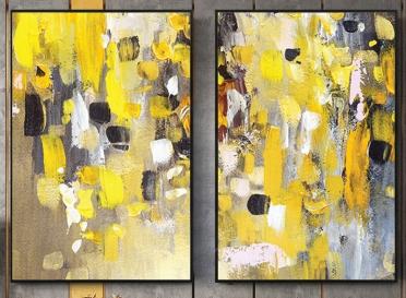 تابلوه زجاج - 2 فريم- فن - 100×70